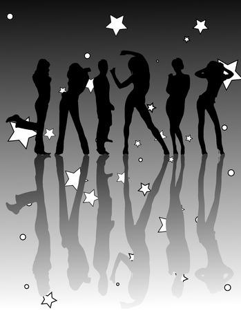 danza moderna: fiesta Vectores