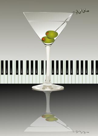 copa de martini: fiesta Vectores