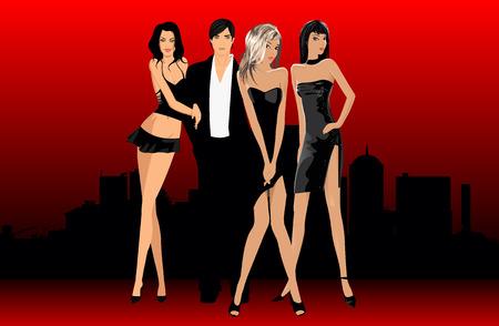 highfashion: party Illustration