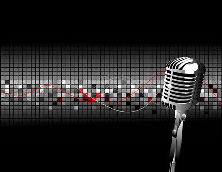condenser mic Stock Vector - 4080095