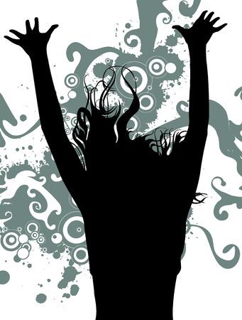 celebrate life: silhouette Illustration