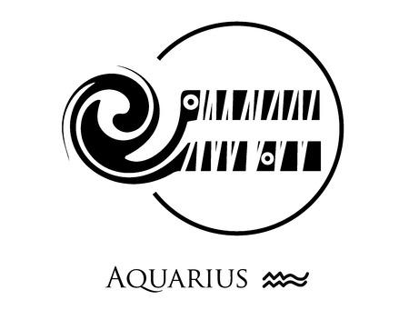 tell: styled zodiac signs Illustration