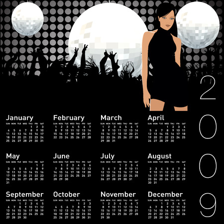 almanac: calendar Illustration