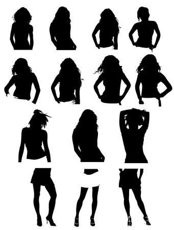 silhouettes Stock Vector - 4493713
