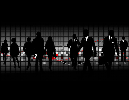 group silhouette: silhouettes