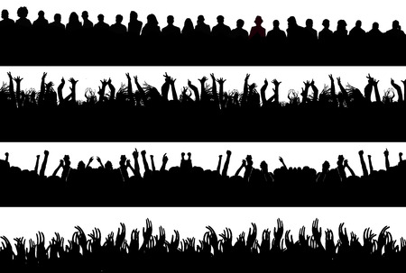 mucha gente: siluetas