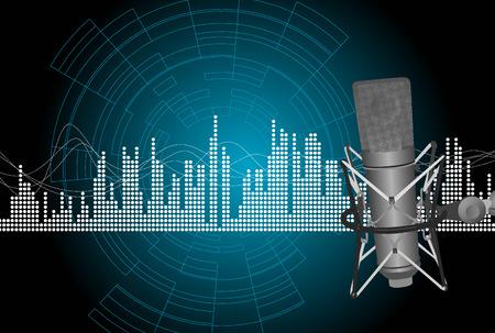 microfono radio: m�sica