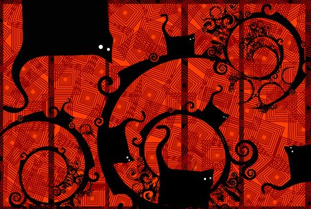 abstract cats Vector