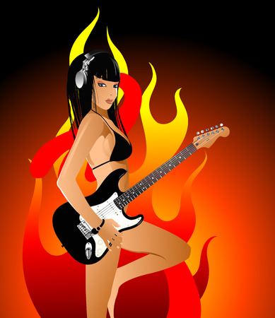 heaven and hell: woman Illustration