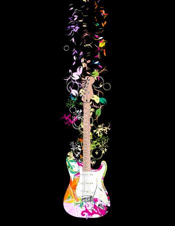 resonancia: guitarra Vectores