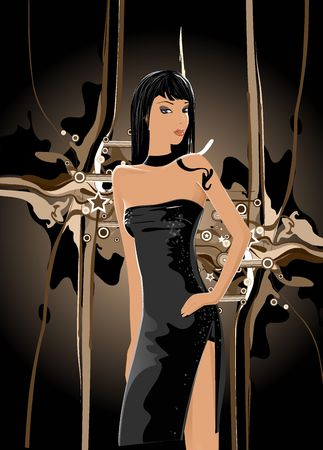 amative: woman Illustration