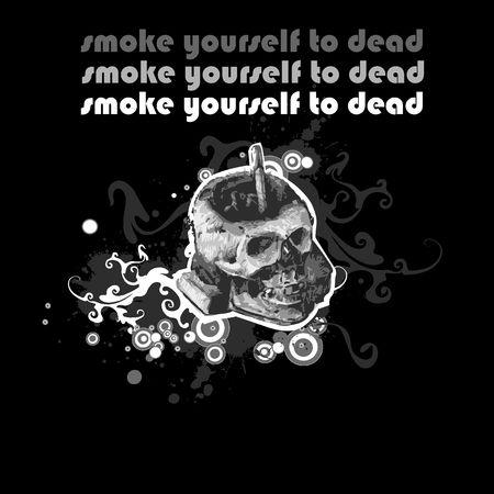 harmful: skull