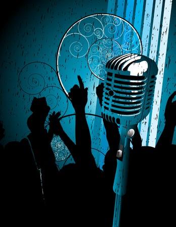 radio station: microphone