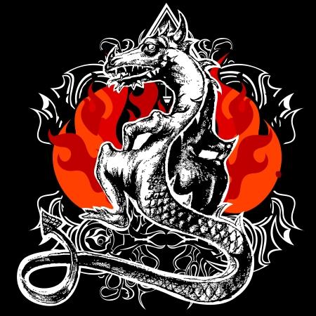 tatuaje dragon: Drag�n