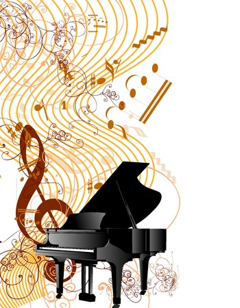 piano player: music
