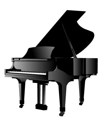 a grand piano: music