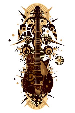 guitar Vektoros illusztráció