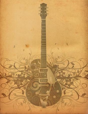 concert poster: guitar