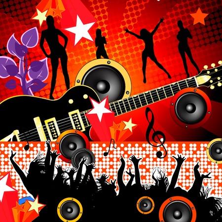 pop music: party Illustration