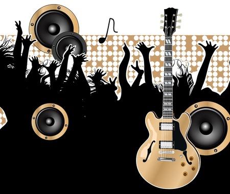 partition musique: guitare Illustration