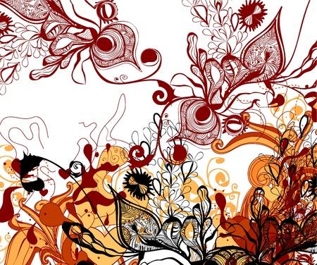 vine and leaves of vine: floral