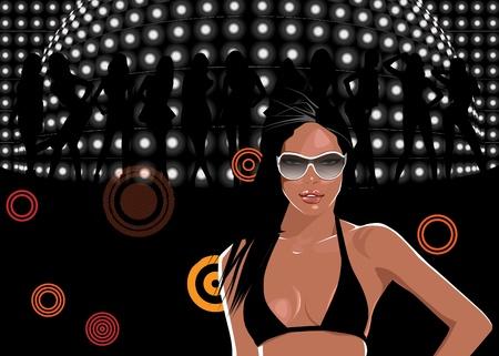 mirrorball: party Illustration