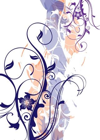 denim fabric: grunge Illustration