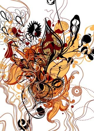 graffiti brown: abstract Illustration