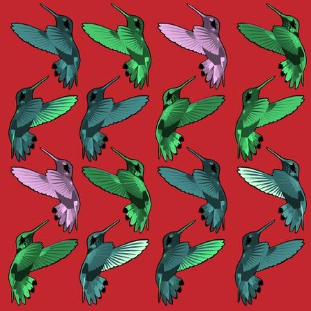 central park: birds Illustration