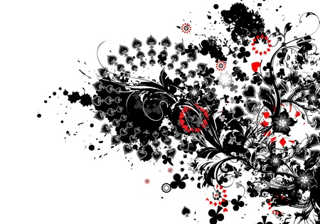 playing cards deign background photo