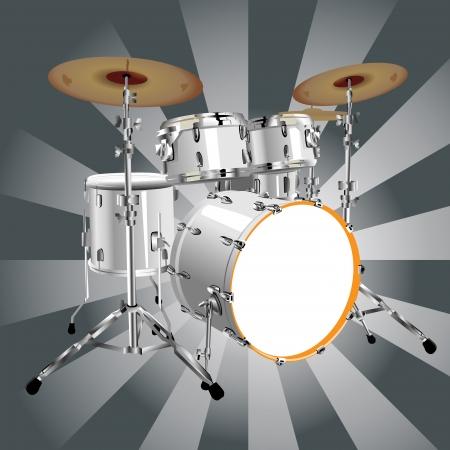 tambor: Bateria definidos Ilustra��o