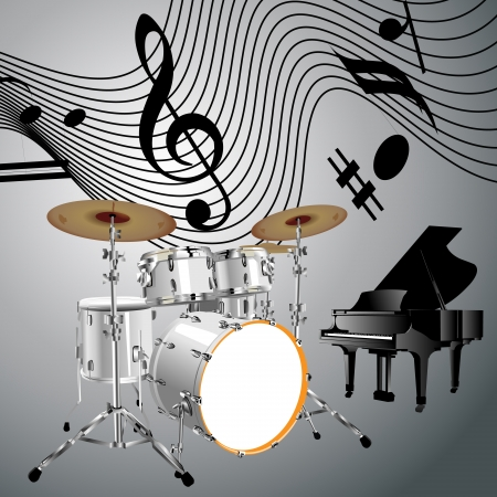 Drums set Vector