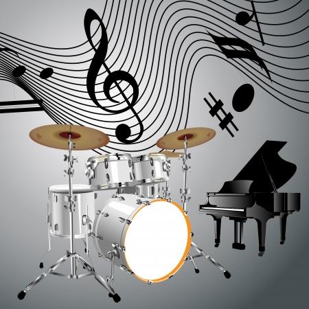 snare drum: Drums set