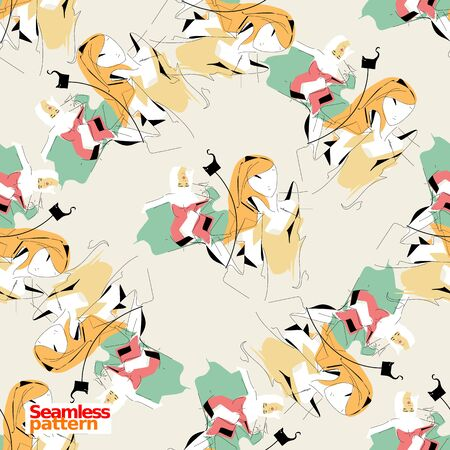 Seamless pattern 스톡 콘텐츠 - 129718217