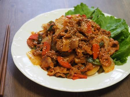 Korean food, stir-fried meat