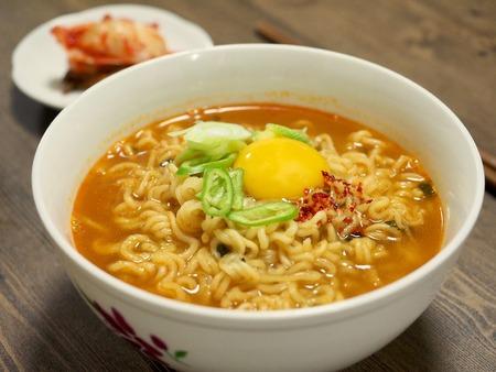 Korean food ramen Foto de archivo