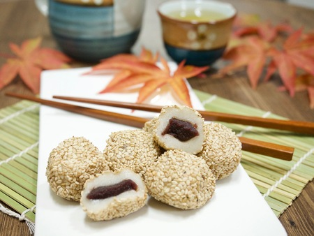 Asian food Sesame glutinous rice cake