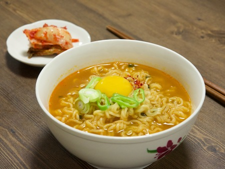 Korean food ramen 写真素材