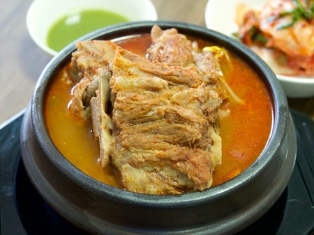 Korean food Rib Hangover Soup Stock Photo