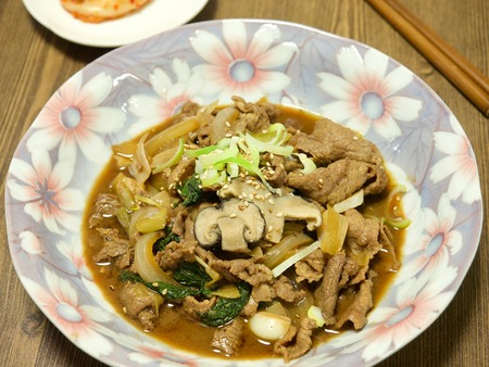 Korean dish bulgogi