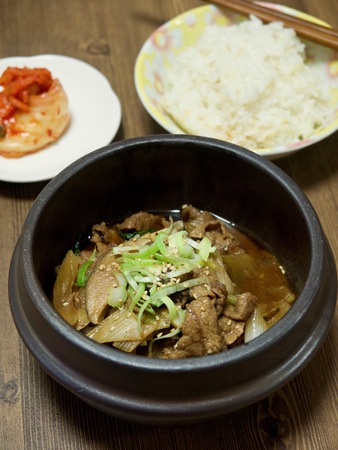 korean food bulgogi Stock Photo