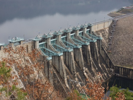 Koreas Hydroelectric power station, Daecheong Dam Stock Photo