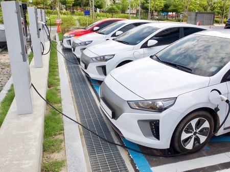 Electric car charging station in Korea Redakční