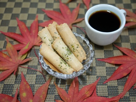 Asian traditional sweets senbei, Rice cracker