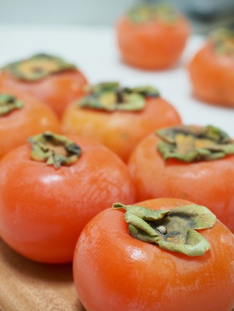 Fruits of Korea Ripe persimmon Stock Photo