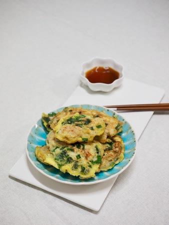 Korean food Oyster Pancake, gul jeon