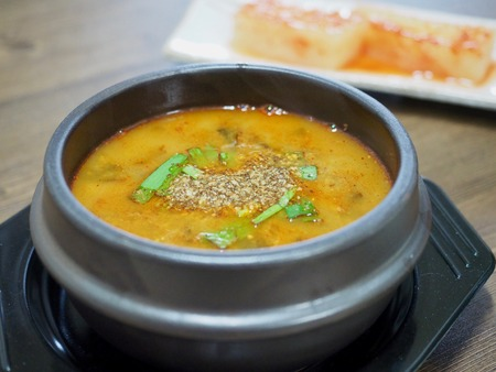 Korean food Loach soup