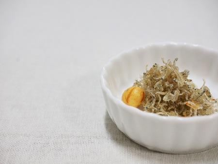 Korean food Stir-fried anchovies Stock Photo