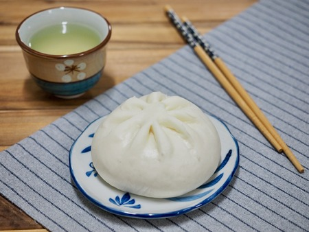 Asian food Steamed bun