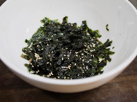 Korean food Dried laver, laver powder 스톡 콘텐츠